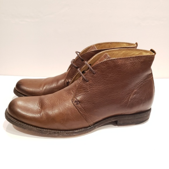 Frye Mens Brown Leather Chukka Boots